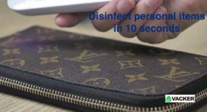 Disinfect-wallet-currency-credit-cards-with-UV-Light